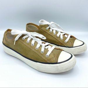 Comme des Garcons Homme Mens Bronze Gold Sneakers
